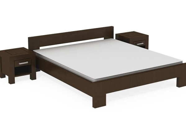 Manželské postele z masívu
