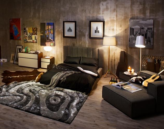 Moderná čalúnená posteľ