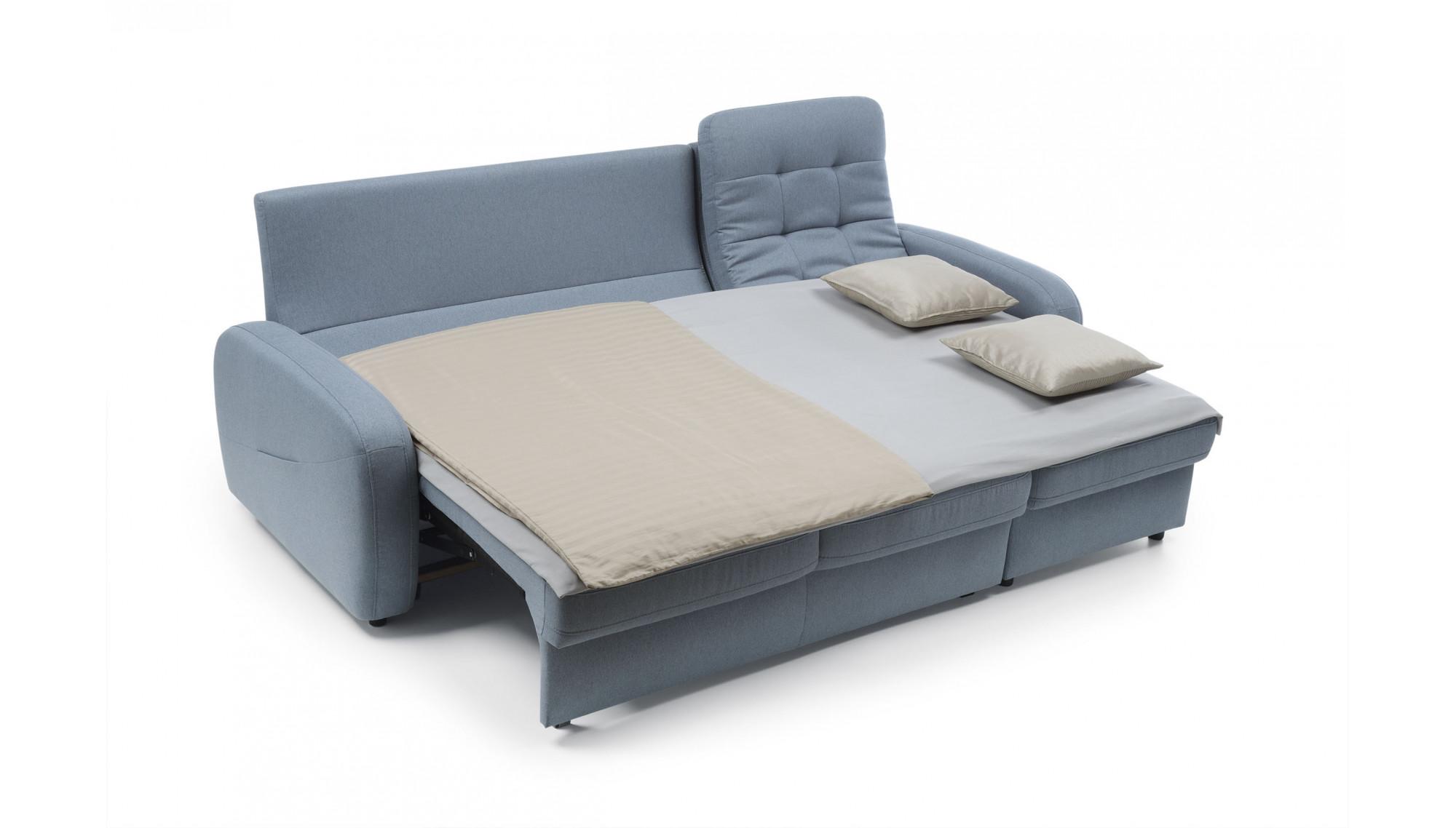 Sedačka s úložným boxom a posteľou